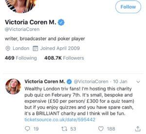 Victoria Coren Mitchell Twitter